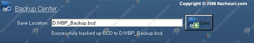 Successfully backed up BCD to