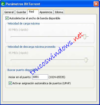 Parametros de Bittorrent - Red