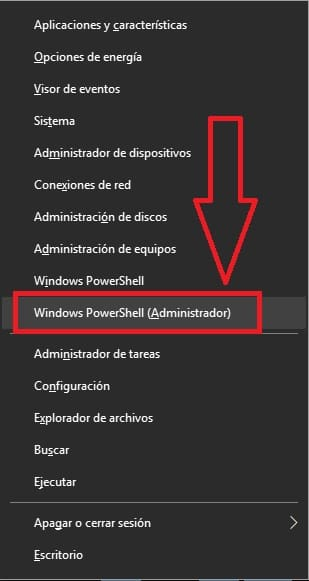 Ejecutando Windows PowerShell