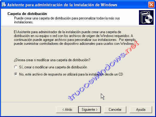 Instalacion desatendida de Windows XP