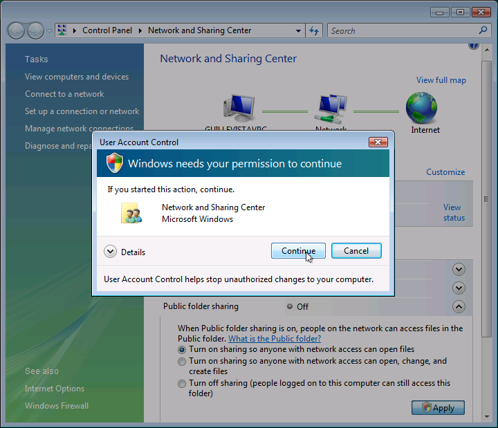 Configurar una red en Windows Vista