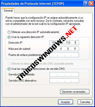 Crear y configurar tu red Wireless TCP/IP