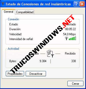 Crear y configurar tu red Wireless Estado señal