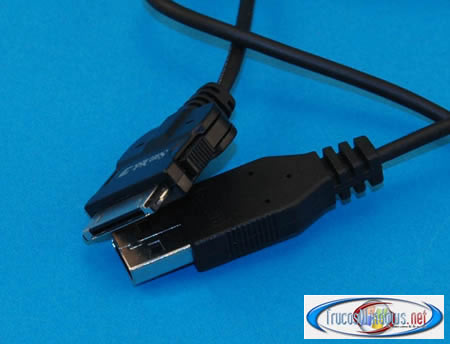 Foto cable USB reproductor MP3 Sandisk Sansa e270 6 GB