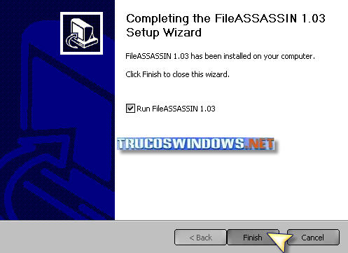 FileASSASSIN final instalación