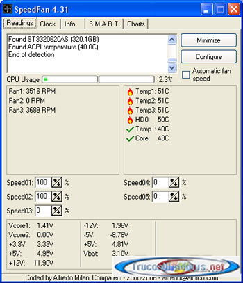 AMD Athlon 64 X2 6000+  SpeedFan