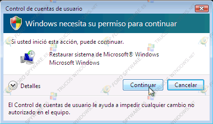 Aviso seguridad Windows